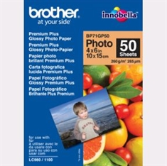 Brother Glossy Foto Inkjet Papir BP71GP50